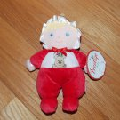 Prestige Red Reindeer Plush First Doll Blond Hair Rattle Stripe Feet 96009