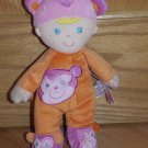 Target Circo Levatoy Plush Doll Orange Pink Monkey Pajamas Blond Hair Blue Eyes Slippers