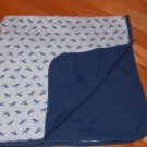Baby Gap Navy Blue Cotton Zebra Baby Blanket 245589