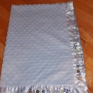 Carters Just One Year Blue Minky Dot Love You from A-Z Baby Blanket Puppy Dog Bone Paws J4909