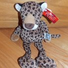 Russ Berrie 12 Inch Plush Tan Brown Spotted Chase Cheetah Leopard Kitty Cat Toy 24841