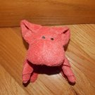 Towel Pal Carnival Cruise Line Plush Coral Pink Terry Cloth Animal Buddy Wash Toy