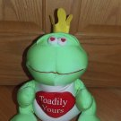 Moshi Microbead Toadily Yours King Frog Prince Pillow Heart Toy