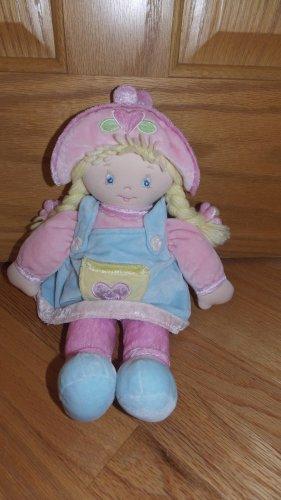 Baby Gund Plush Baby Doll Heidi 58301 Blond Yarn Hair Pastel Velour Outfit Hat Flowers