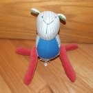 Pottery Barn Kids Country Plush Lamb Sheep Puppy White Blue Green Red Corduroy Legs Nursery Decor