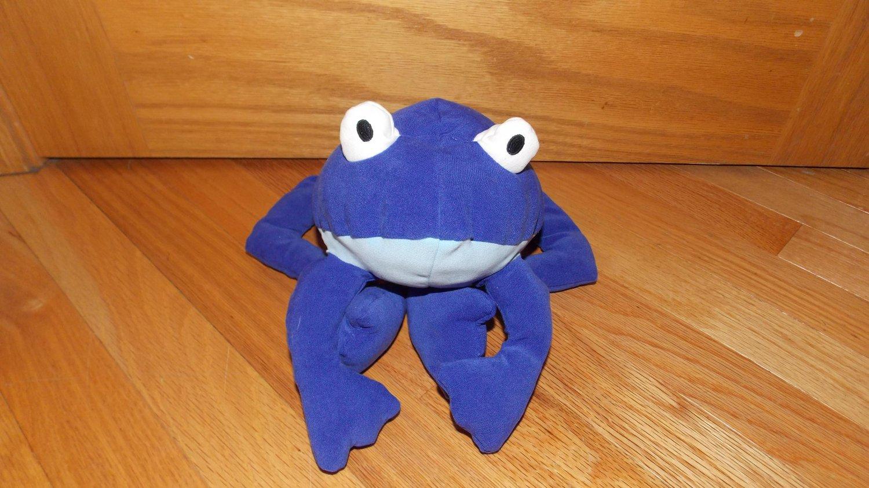 Baby Gap Plush Blue Frog White Eyes Toy