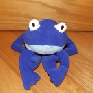 Baby Gap Plush Blue Frog White Eyes Toy