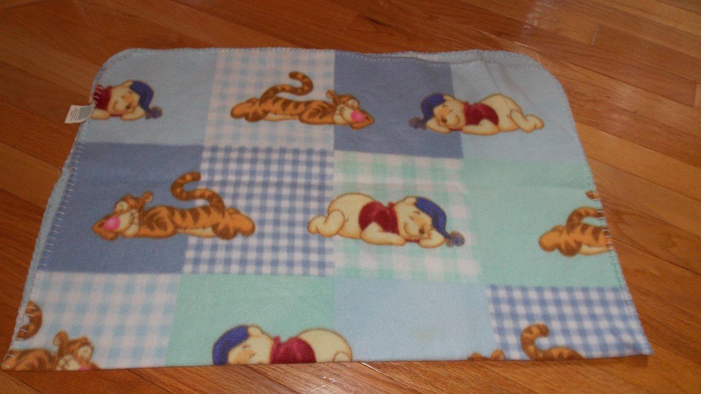 Disney Baby Winnie the Pooh Tigger Sleeping Blue Green Fleece ... : winnie the pooh baby quilt - Adamdwight.com