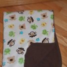 Circo Target Cream Brown Animal Sherpa Baby Blanket Monkey Frog Bear Duck Elephant