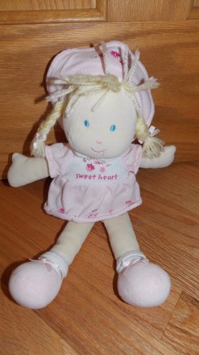 Carters Pink Plush Sweetheart Baby Doll Pink Flower Dress Braids 27896