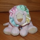 Baby Ganz Pink Pastel Lion Satin Mane Green Yellow Blue Plush Toy