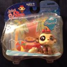 Hasbro 2008 Littlest Pet Shop Fanciest Bobble Head #714 Tropical Monkey Red Bow Banana 23941