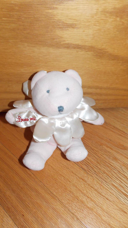Teleflora Pink Plush Talking Loves Me Teddy Bear Satin Flower Petal