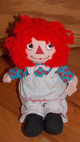 Vintage 1986 Applause Raggedy Ann Musical Wind up Toy Red Yarn Hair