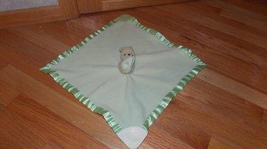 Disney Classic Winnie the Pooh Green Security Blanket Lovey Teether Crinkle #07774