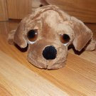 Russ Berrie Plush Brown Puppy Dog Shilah 85060 Big Eyes Peepers