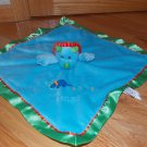 Mary Meyer Baby Dragon Dinosaur Triceratops Security Blanket Green Blue Lovey FLAW