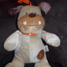 Carters Just One Year Plush Musical Bulldog Tan Beige Puppy Dog Orange Collar 99982