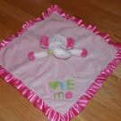 Carters OS Pink Love Me Elephant Lovey Security Blanket Polka Dot Ears Satin Ruffle L2276911