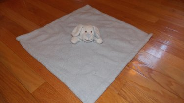 Blankets & Beyond Plush Blue White Chenille Puppy Dog Security Blanket Lovey