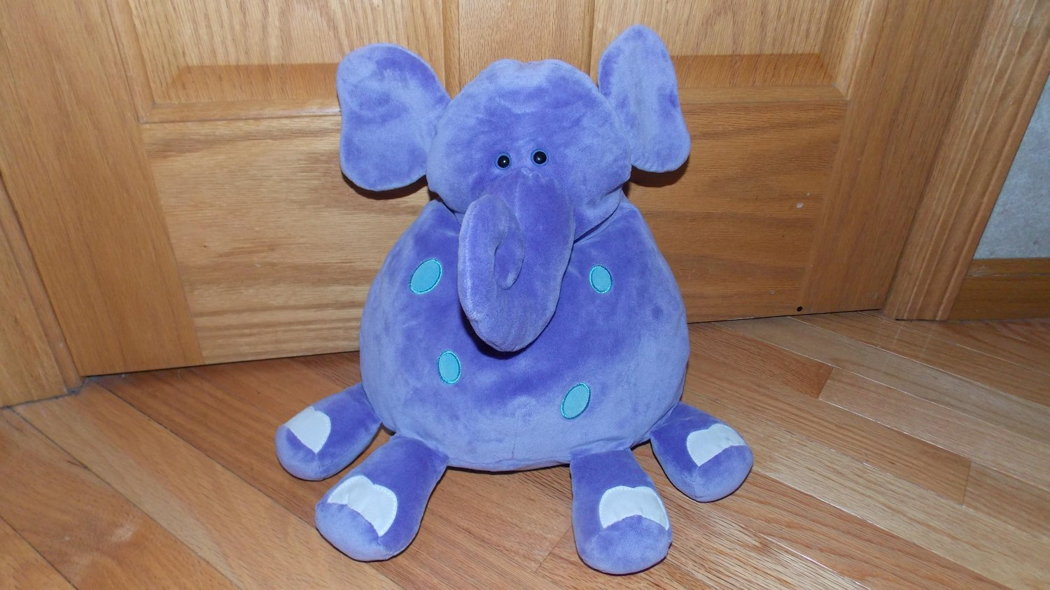 Animal Pillows Toys R Us : Animal Alley Toys R Us Purple Plush Elephant Blue Spots Front Feet White Nails Toy Pillow