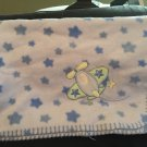 Just Born Blue Fleece Stars Airplane Baby Blanket 4420K