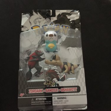 Pokemon Black & White Figure Multi-Pack Zoroark, Sandile, Oshawott