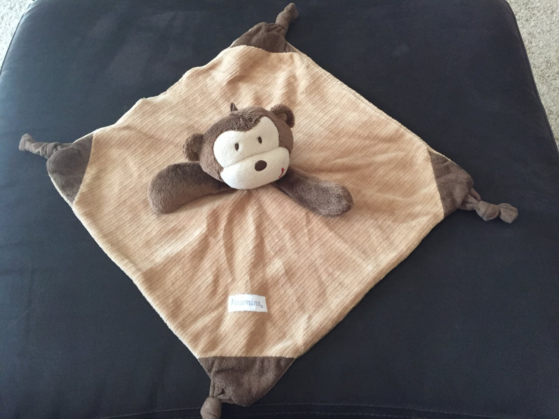 Vitamins Baby Plush Brown Tan Cream Monkey Lovey Security