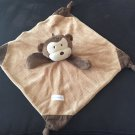 Vitamins Baby Plush Brown Tan Cream Monkey Lovey Security Blanket #BU3502