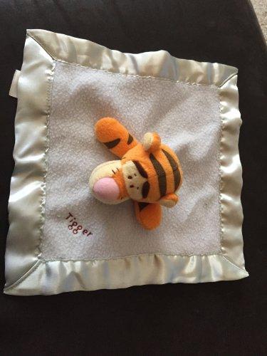 Disney Baby Blue Fleece Winnie the Pooh Tigger Lovey Security Blanket