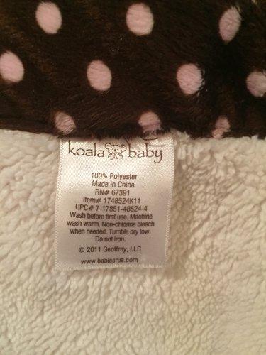 68d5341f7 Koala Baby Pink Brown Cream Polka Dot Trim Baby Blanket Style 1748524K11