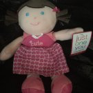 Carters Just One You Plush Love Pink Cute Brown Hair Talking Baby Doll Hearts I  Love You 63002