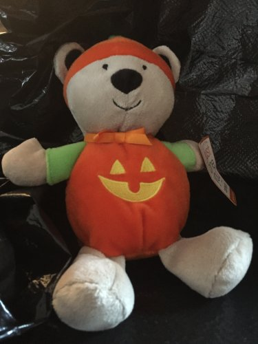 Carters Just One You Plush Halloween Pumpkin Jack O Lantern Costume Bear Rattle  63026