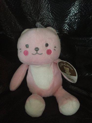 Carters Child of Mine Pink Plush Kitty Cat Rattle Circle Cheeks 62009
