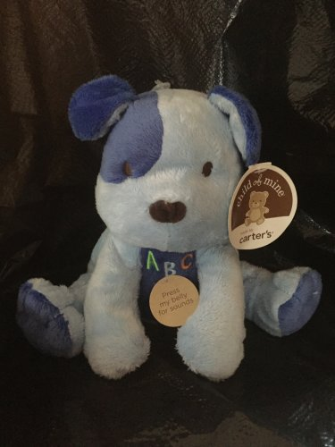 Carters Child of Mine Blue Plush ABC Puppy Dog Musical Sings 83122