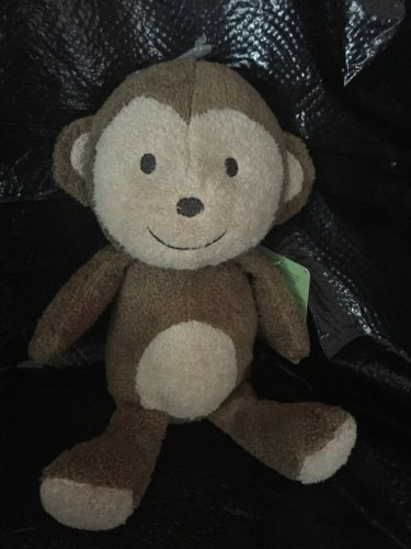 Carter's Just One You Plush Brown Beige Monkey Baby Toy Rattle 63014