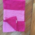 Pottery Barn Kids Pink Magenta Stripe Knit Chenille Baby Blanket