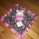 Garanimals Black White Pink Zebra Security Blanket Lovey Style GM4365G
