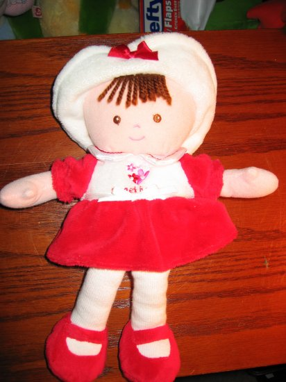 """Carter's Just One Year Plush Red Doll """"Sweetheart"""" Lovey"""