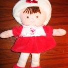 "Carter's Just One Year Plush Red Doll ""Sweetheart"" Lovey"
