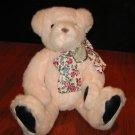 Plush Pink Gund Teddy Bear flower ribbon 1992