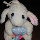 Precious Moments Baby Lamb Musical Crib Pull Toy 1999