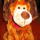 Mary Meyer Plush Gold and brown textured Dog with Brown Ears Flip Flops dog