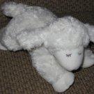Baby Gund White Lamb named Winky Plush Baby Rattle