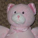Baby Gund Dottie Dots 58243 Pink Kitty Cat plush Rattle doll
