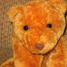 Mary Meyer Flip Flops Tan Teddy Bear with checkered ribbon