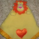 Baby Boom Yellow Lion Lovey Security Blanket Orange Heart Musical