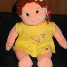 Ty Beanie Kids Curly Plush Doll red Curly hair green eyes