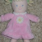 Carters Just one year Plush Blonde Doll in pony tails with Blue eyes 'my first doll' on pink dress