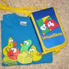 Veggie Tales Notebook and T-Shirt